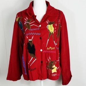 Life Style : Reindeer Corduroy Jacket Christmas